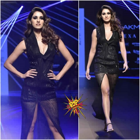 Baaghi Beauty Looks so hot in Black Outfit